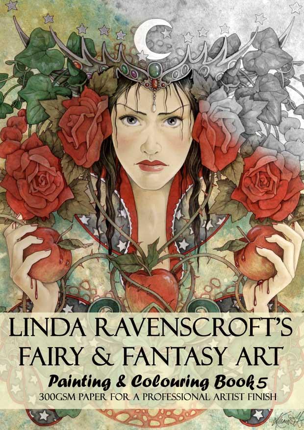 BOOK 5 – LINDA RAVENSCROFT'S COLOURING BOOK – SPIRAL BOUND – The Mystic  Garden Glastonbury