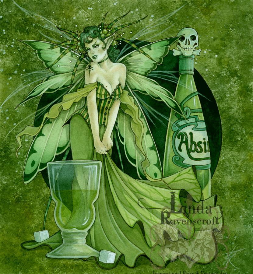 Large Print The Absinthe Fairy The Green Fairy The Mystic Garden Glastonbury