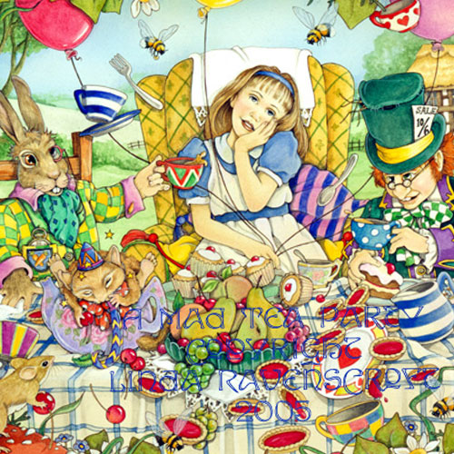 Alice In Wonderland  Teaparty A4 Print